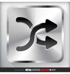 Metal shuffle button applicated for html and flash vector