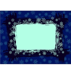 grungy snowflake frame vector image