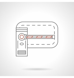 Road barrier flat line icon vector