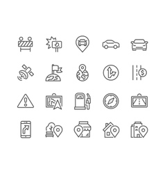 Line navigation icons vector