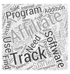 Affiliate Tracking Software Review ShareResults vector image vector image