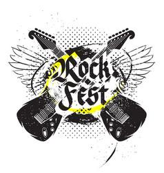 Black guitar print vector
