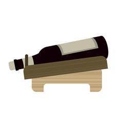 bottle wine alcohol beverage vector image