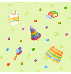 Childish background vector image vector image