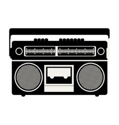 Classic tape player device vector