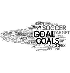 goals word cloud concept vector image vector image