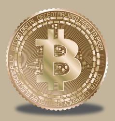 gold bitcoin vector image vector image