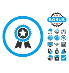 Guarantee Flat Icon with Bonus vector image