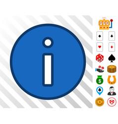 Info icon with bonus vector