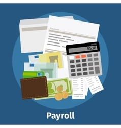 Invoice sheet paysheet or payroll icon vector