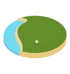 Lake in the golf course icon cartoon style vector
