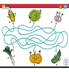 Maze taks for preschool kids vector