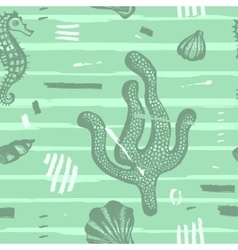 Modern seamless sea pattern vector image vector image