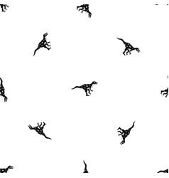 Ornithopod dinosaur pattern seamless black vector