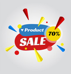 price tag for sale promotion vector image vector image