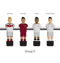 Table football soccer players group g vector