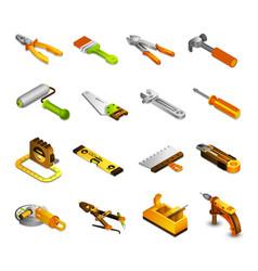 Tools isometric icons vector