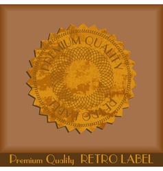 Vintage grunge labels vector image