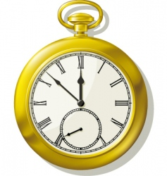 vintage pocket watch vector image vector image