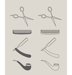 vintage set of icons hipster style vector image vector image