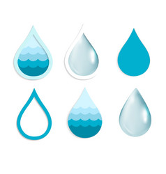 Water drop set vector