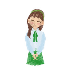 young girl icon image vector image vector image