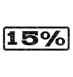 15 percent watermark stamp vector