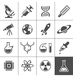 Research icon set vector