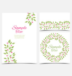 Decoration branches with leaves vector