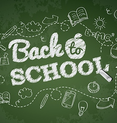 Back to school poster with doodles vector