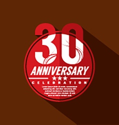 30 years anniversary celebration design vector