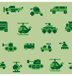 Pixel war pattern vector