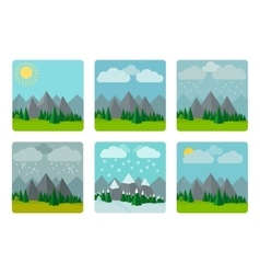 Weather in flat style vector
