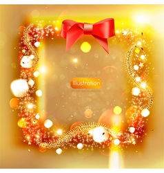 Golden Christmas Background vector image