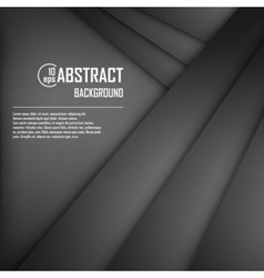 Abstract background of black origami paper vector