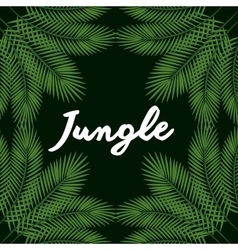 Jungle leaves pattern isolated icon design vector