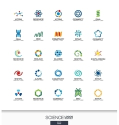 Abstract logo set for business company Science vector image vector image