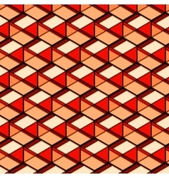 Abstract repetition geometric orange beige red vector
