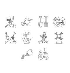 agriculture icon set vector image