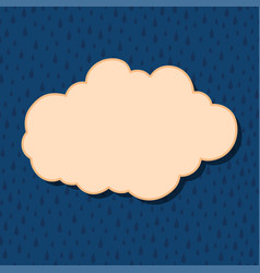 Awesome cloud frame on seamless rainy blue vector