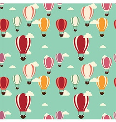 Background with hot air balloons seamless pattern vector image vector image