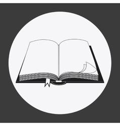 Bible design Book icon Flat vector image