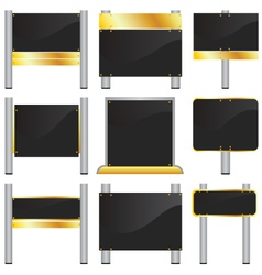 blank signboards vector image vector image