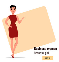 character beautiful business woman 002 vector image vector image