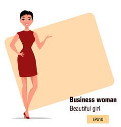 Character beautiful business woman 002 vector