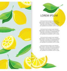 citrus banner design - colorful lemons banner vector image