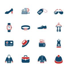 Clothes shop icon set vector