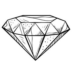Doodle style diamond vector
