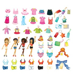 Girl dress set vector