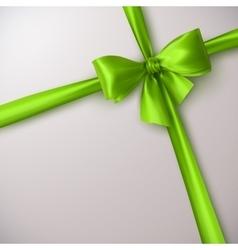 Green bow and ribbon vector